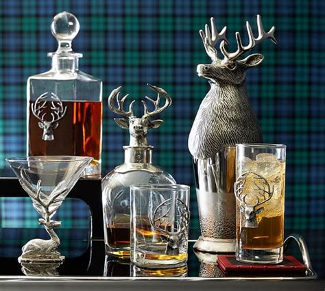 stag decanter pottery barn
