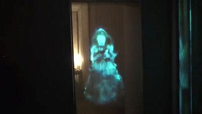ghostly apparitions hologram illusion  doorway