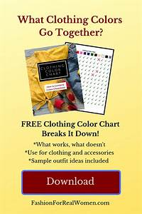 Clothing Color Chart Pin 2
