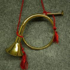 vintage brass christmas holiday french horn decoration