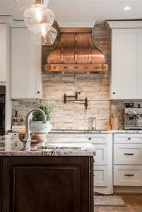 unique kitchen interior design white cabinets copper hood With kitchen colors with white cabinets with mini cooper metal wall art
