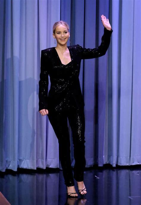 Jennifer Lawrence At Tonight Show Starring Jimmy Fallon In