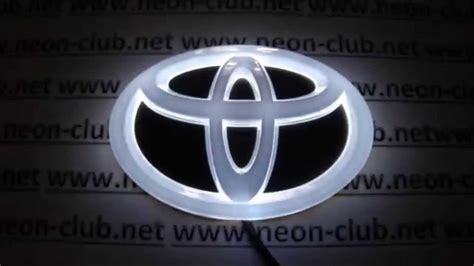 Tuning Auto Accessories Car Decal 4d Toyota Emblem, Led