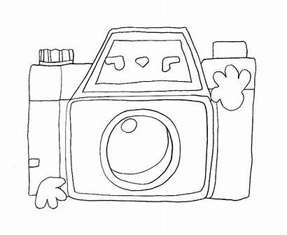 Coloring Pages Camera Popular Library Clipart Template