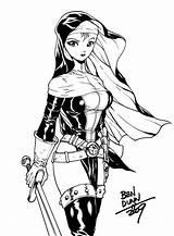 Nun Warrior Areala Deviantart Anime Drawing Commission Dogsupreme Nuns Coloring Battle Dark Tail Fairy Circle sketch template