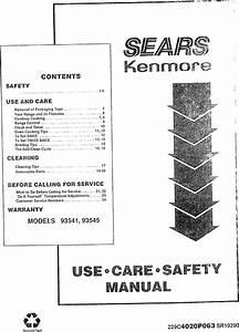 Kenmore 9119354190 User Manual 30 Electric Freestanding R