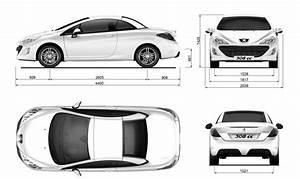 Dimensions 308 Peugeot : peugeot 308 cc blueprint download free blueprint for 3d modeling ~ Medecine-chirurgie-esthetiques.com Avis de Voitures