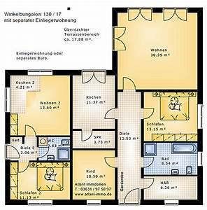 Neubau Mit Einliegerwohnung : winkelbungalow 130 17 einfamilienhaus neubau massivbau stein auf stein ~ Sanjose-hotels-ca.com Haus und Dekorationen