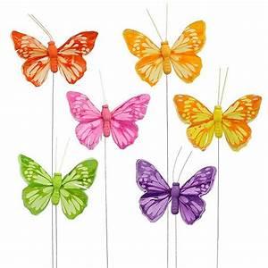 Deko Schmetterlinge Groß : deko schmetterling am draht bunt 6cm 24st gro handel und lagerverkauf ~ Yasmunasinghe.com Haus und Dekorationen