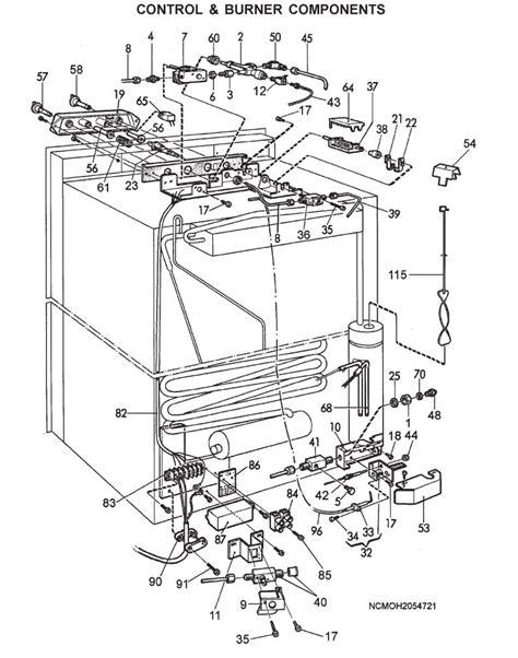 refrigerator parts dometic rv refrigerator parts breakdown