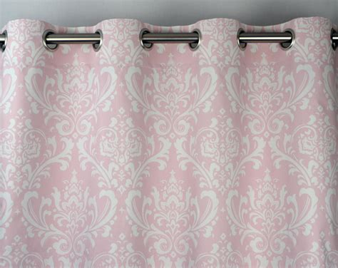 pink and white curtains light pale pink white osborne damask curtains grommet