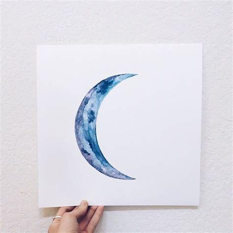 moon   sea art watercolor moon cresent moon tattoo moon art