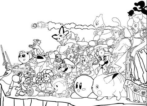brawl tutti i personaggi disegni smash bros coloring pages coloring home