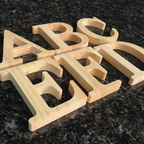 cheap wood letters pine wooden letter tag color diy