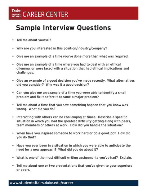 sample interview questions sample interview questions job interview answers interview answers