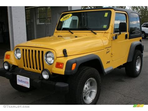 yellow jeep interior 2001 solar yellow jeep wrangler sport 4x4 36407092