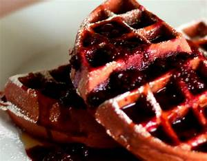 Red Velvet Waffles with Warm Berry Compote | High Heels To ...