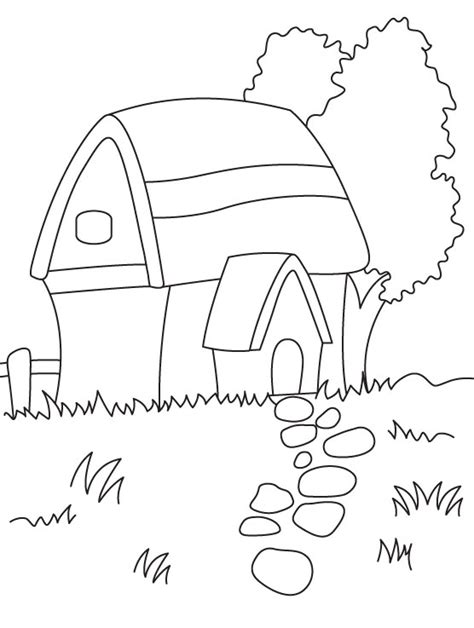 hut coloring page   hut coloring page