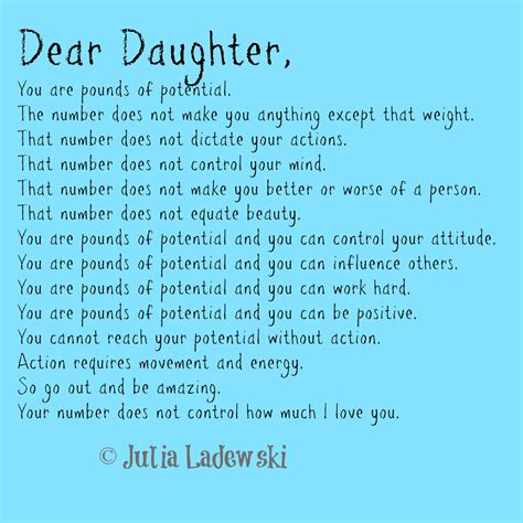 pounds  potential  fathers letter   daughter