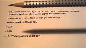 Wirkungsgrad Netzteil Berechnen : wirkungsgrad berechnen prozent ermitteln youtube ~ Themetempest.com Abrechnung