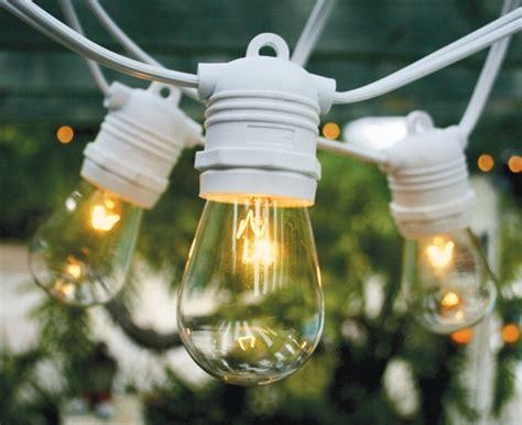 24 socket outdoor string light set 54 white cord