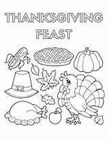 Thanksgiving Coloring Pages Dinner Llamacorn Feast Drawing Sheets Corn Pdf Printable November Template Llama Getcolorings Pilgrim Draw Getdrawings Holiday Disney sketch template