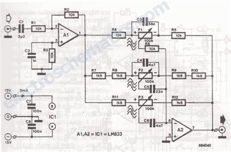 lm833 3 band audio equalizer