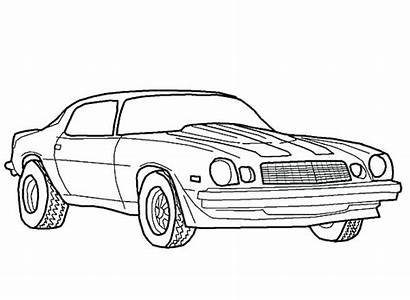 Camaro Coloring Pages Muscle Bumblebee Chevy Chevrolet