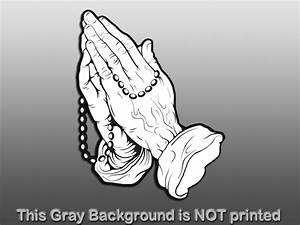 Praying Hands Outline With Rosary | www.pixshark.com ...