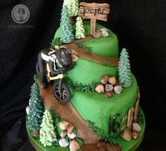 mountain biking birthday cake custom designed cakes