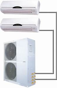 48000 Btu Dual Zone 4 Ton Ductless Split Air Conditioner