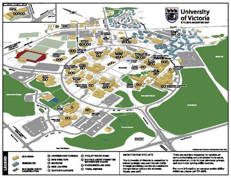 university  victoria cycling amenities map saanich