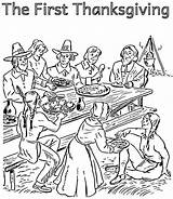 Coloring Thanksgiving Pilgrim Indian Pages Pilgrims Printable Sheets Feast Getcolorings Library Clipart Template sketch template