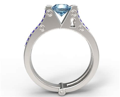 Handcuff Engagement Ring  Vidar Jewelry  Unique Custom