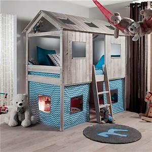 Cabane Lit Enfant : lit cabane l 39 aventure continue lit cabane lits et chambres ~ Melissatoandfro.com Idées de Décoration