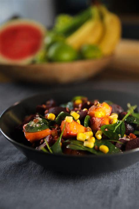 Biešu salāti ar mango un lēcām - Pie Galda!