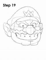 Wario Draw Mario Step Nintendo Easydrawingtutorials Drawing Bros Character Coloriage Title Tattoo Drawings Characters Dessins Desenho Sideburn Dessin Disney Pencil sketch template