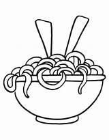 Noodles Coloring Noodle Pasta Printable Drawing Macaroni Cheese Mac Pencil Drawn Spaghetti Template Lasagna Bowl Drawings Getdrawings Getcolorings Sketch Colorings sketch template
