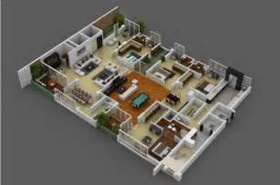 4bedroom House Design by 4 Bedroom Apartment House Plans