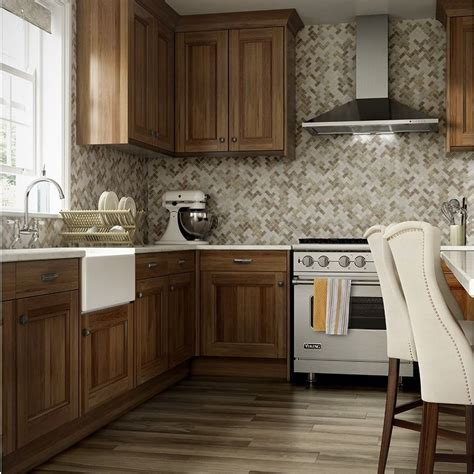 lowes kitchen cabinets pictures make a statement in your kitchen with a herringbone 7235
