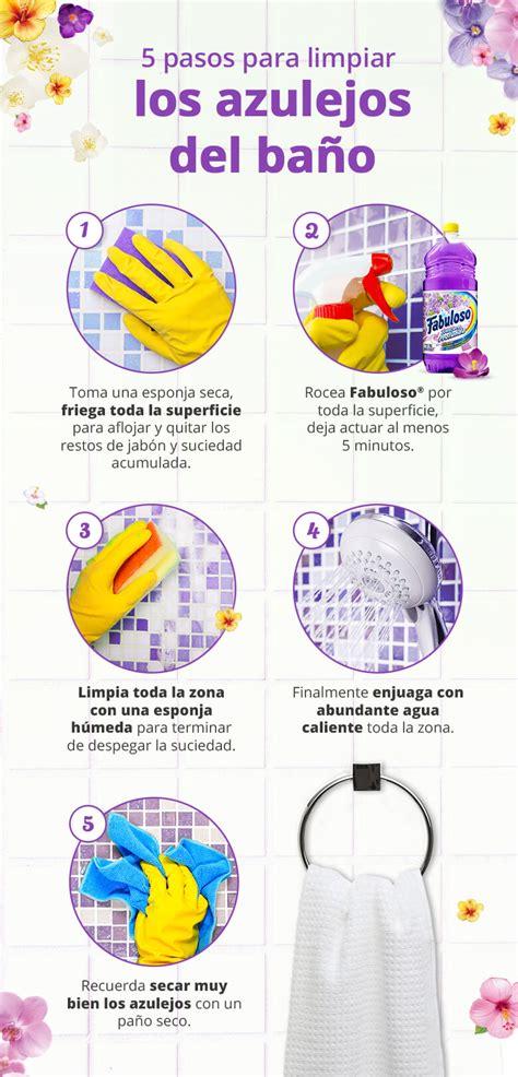 pasos  limpiar los azulejos del bano tu hogar mexico