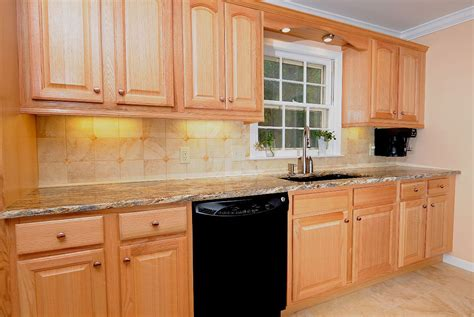 attachment kitchen paint color ideas with light oak