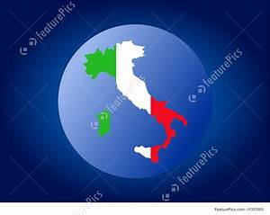 Italy Globe Stock Illustration I1357093 At Featurepics