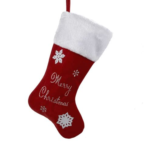 twenty five days of christmas minu stocking on a rope from crackabsral velvet merry with white cuff