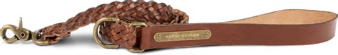 HARRY BARKER Braided Leather Dog Leash, 4-ft - Chewy.com