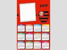 Calendários 2019 Time de Futebol para Foto Moldura