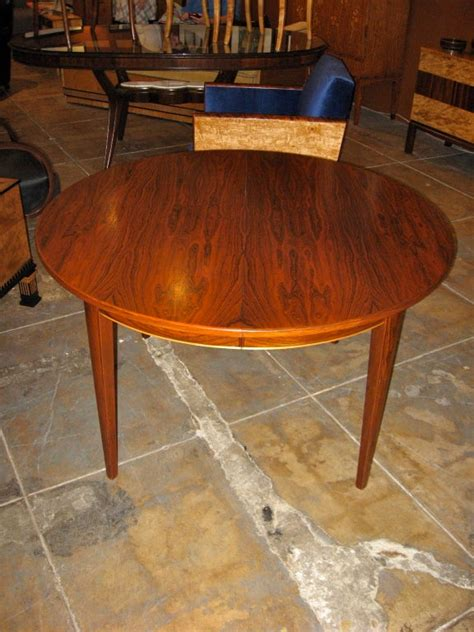 danish mid century modern extendable rosewood dining table