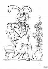 Alice Wonderland Hatter Mad Cartoon Drawing Coloring Pages Getdrawings Spyglass sketch template