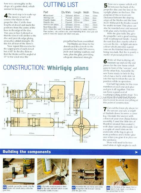 whirligig plans woodarchivist
