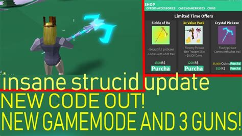 mega update  strucid  guns gamemode  exclusive